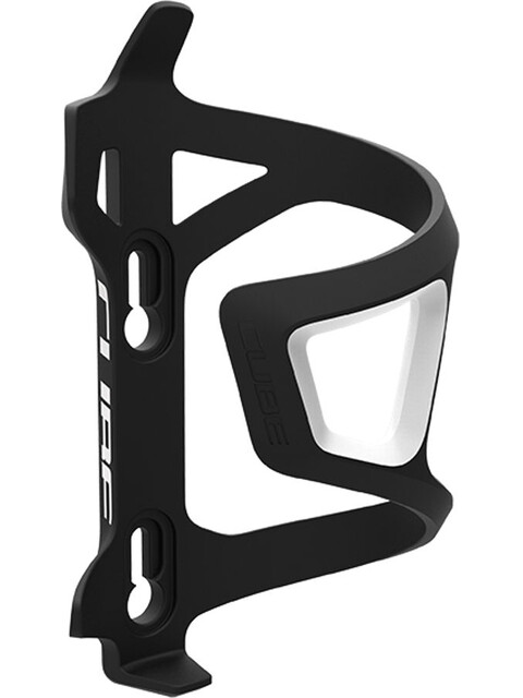 Cube HPP Left-Hand Sidecage Bidonhouder wit/zwart